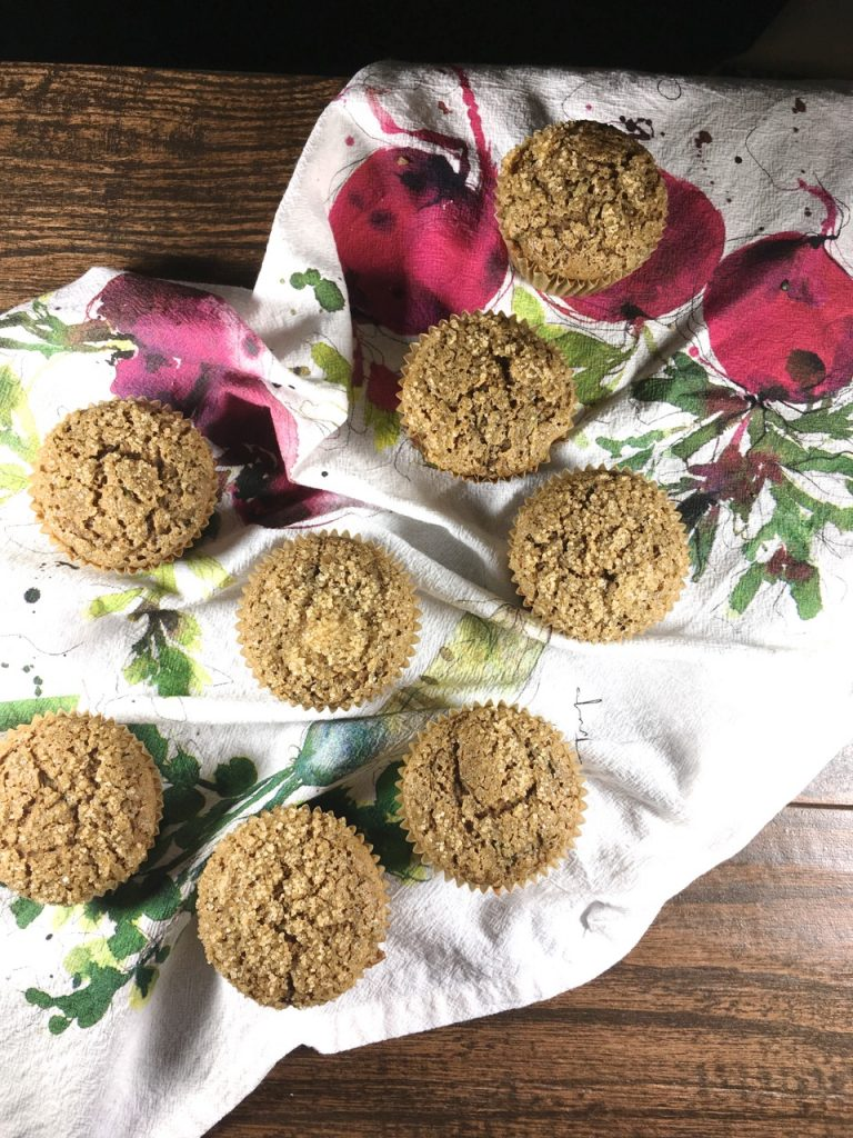 Gluten-Free, Dairy-Free Spiced Zucchini Muffins made with sorghum and millet flour