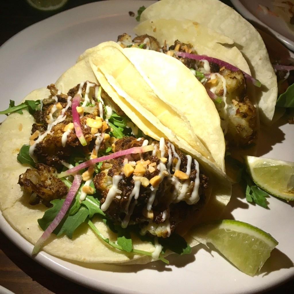 Cauliflower Tacos at Bar Peached