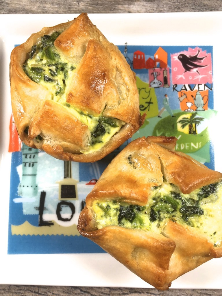 Spinach Goat Feta Puff Pastry Dish
