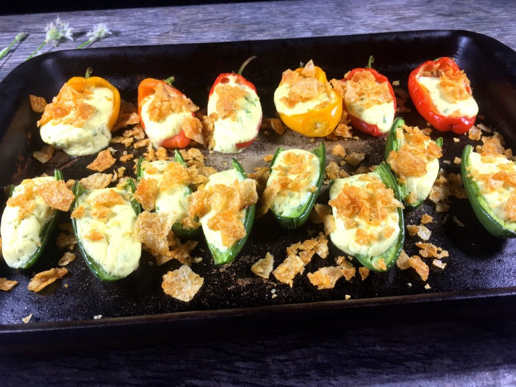 Vegetarian Jalapeño Poppers | Gluten-Free, Goat Cheese