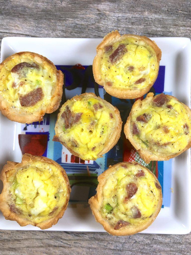 Mini Gluten-Free Quiche Lorraine made with Schär puff pastry