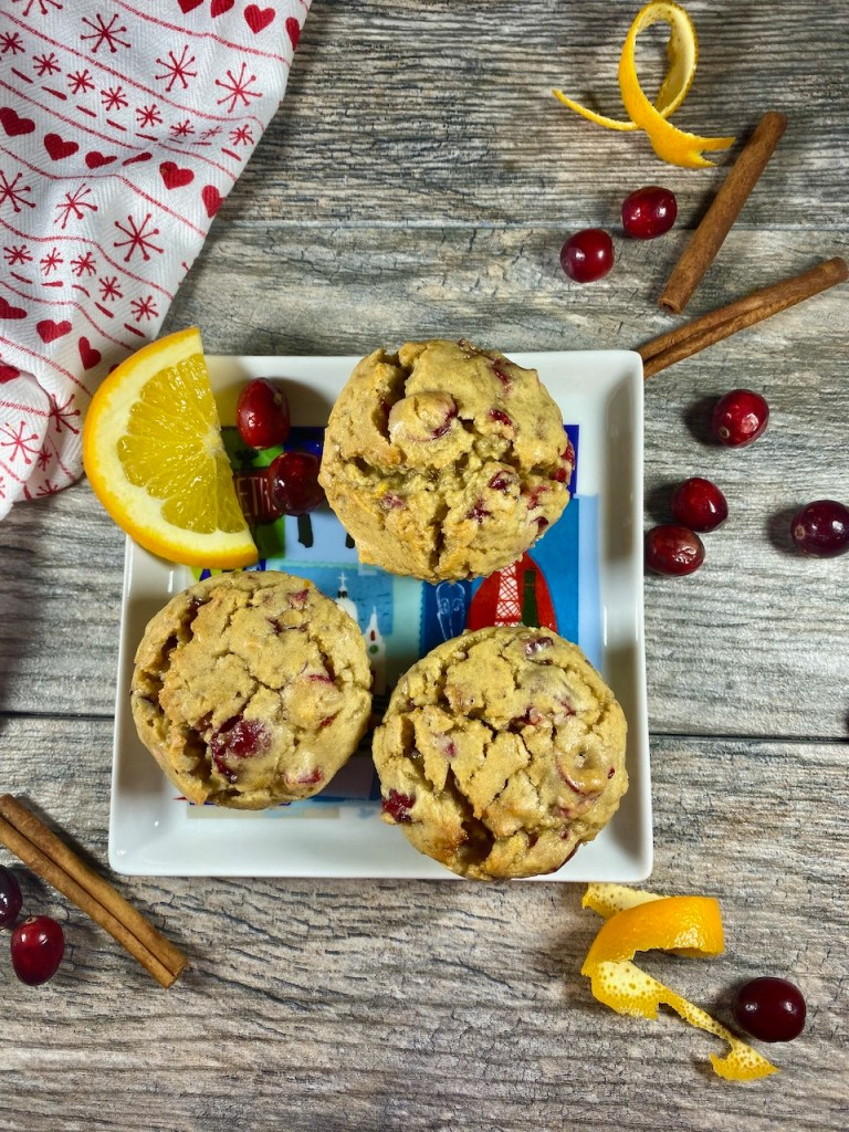 Gluten-Free Glazed Cranberry Orange Muffins