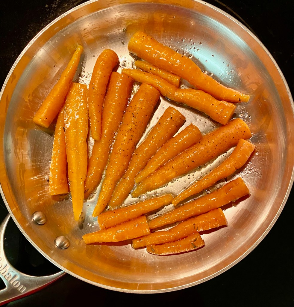 Sautéed Carrots before adding Cayenne Date Nectar