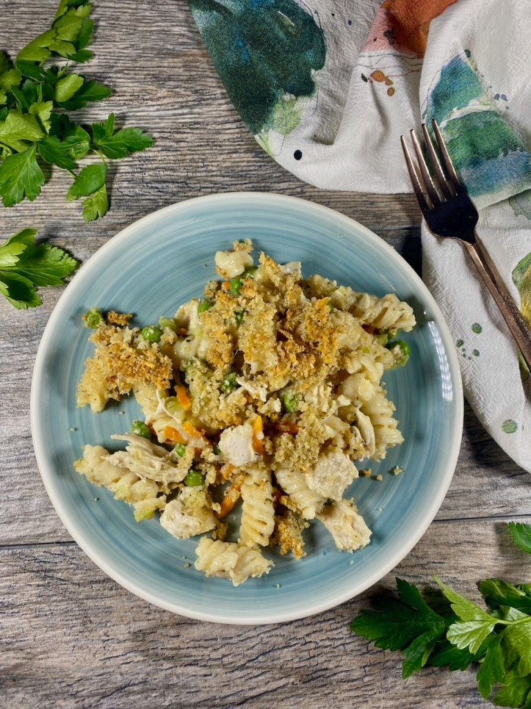 Use leftover Thanksgiving turkey to make a Noodle Casserole