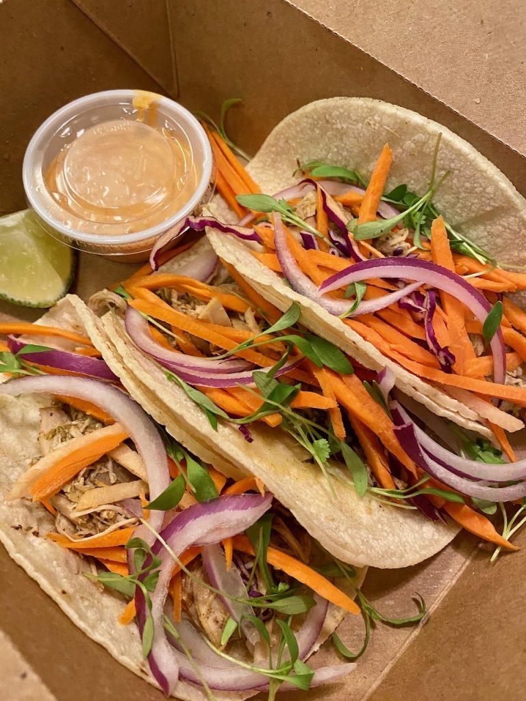 District Kitchen Street Tacos (gluten-free) with Chili Aioli