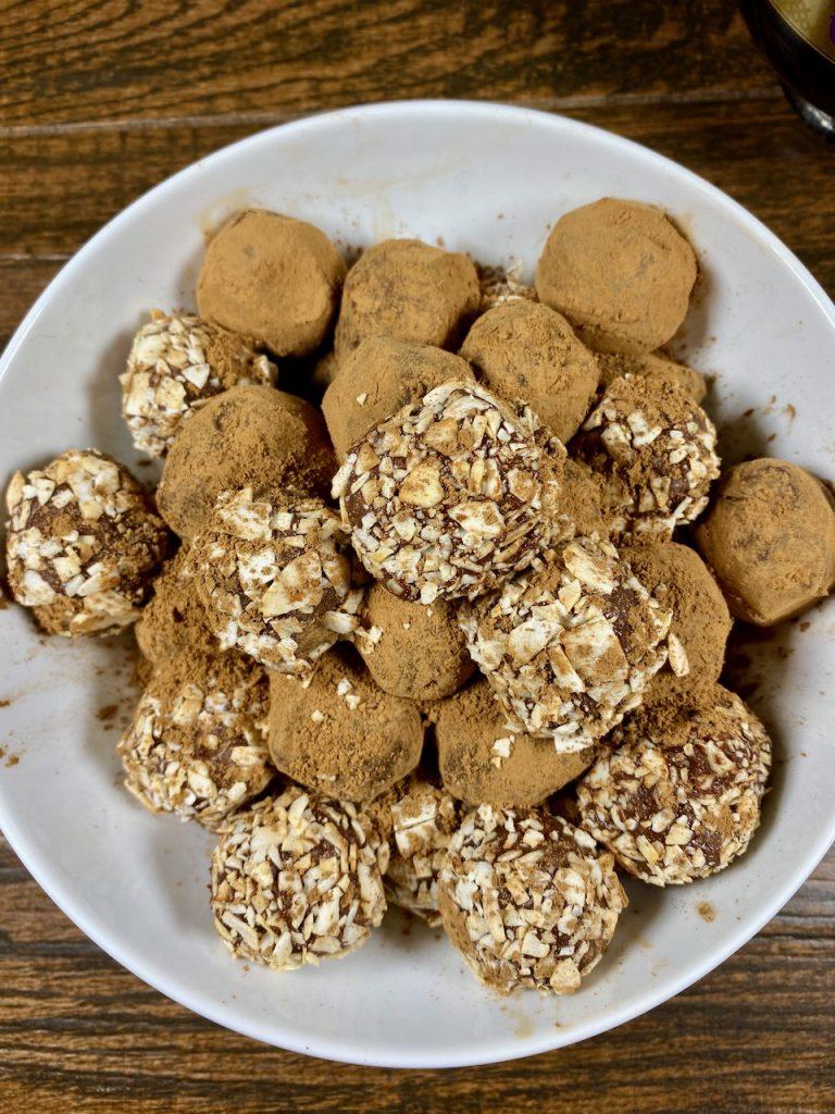 Gluten-free Chambord Dark Chocolate Truffles