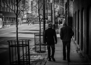 bw friday - two guys walking