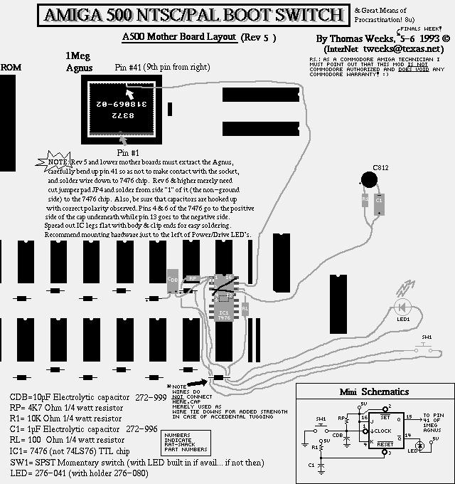 amiga 500 problem home computer pc circuitboard