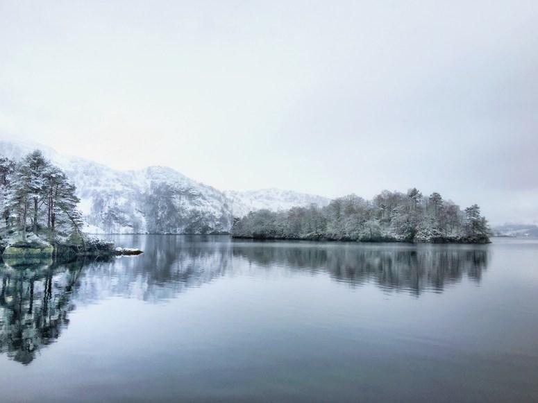 Frozen Loch Katrine