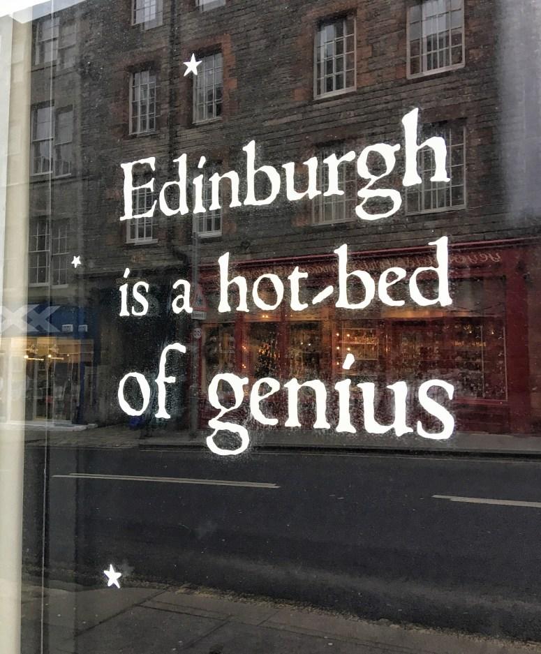 Edinburgh is a hot-bed of genius