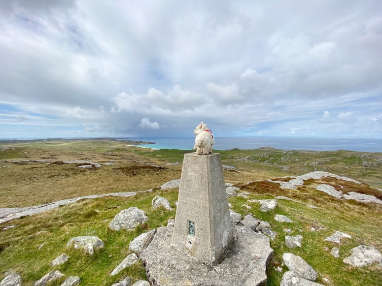 Burial cairn on summit of Ben Hogh, Isle of Coll