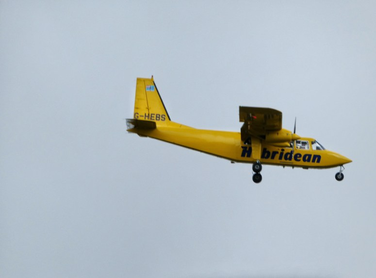 Hebrides Air Services Ltd, leaving Isle of Coll
