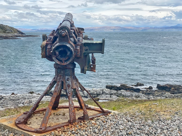 90mm gun from armoured merchant ship, Isle of Coll