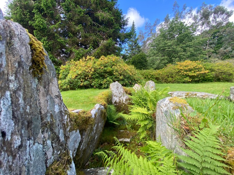 Chambered cairn, Crarae Garden, Argyll