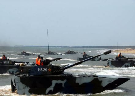Chinese amphibious assault craft. They are building these in bulk, as these are the vehicles they will need for any invasion of Taiwan.