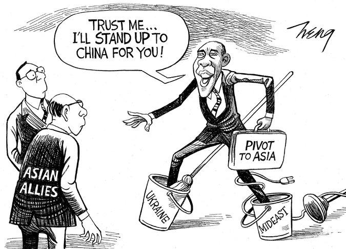 America's Asia Wobble; China's Western Swing