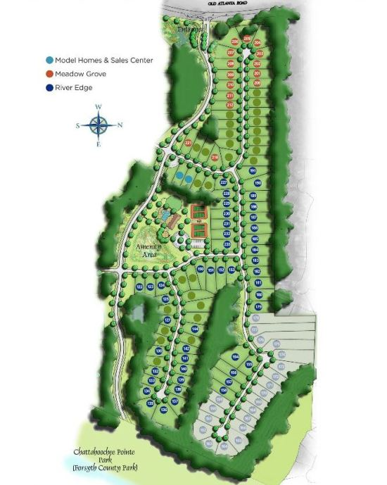 Bridleton Neighborhood Site Plan Suwanee Forsyth County