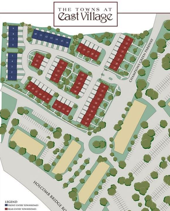Roswell Site Plan For The Towns At E Village