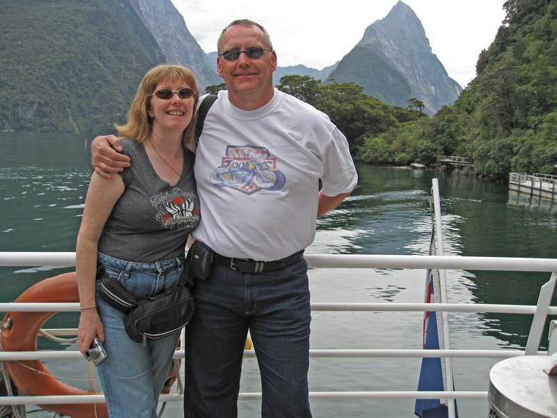 Kevin and Lynda in Milford Sound
