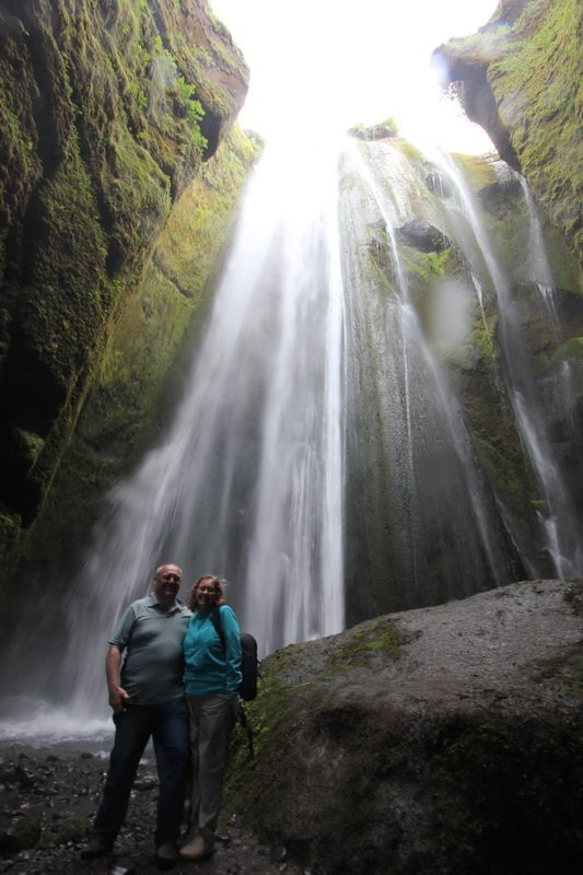 Our last waterfall of the day, which was freezing!