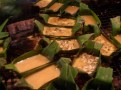 Banana leaf omlette boats