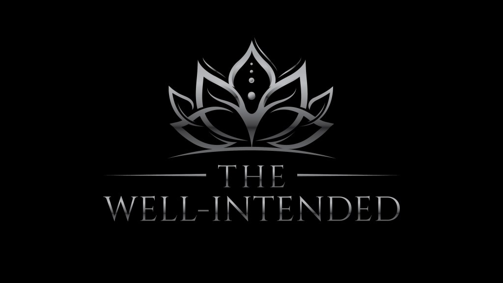 The Well-Intended Logo - Silver on Black