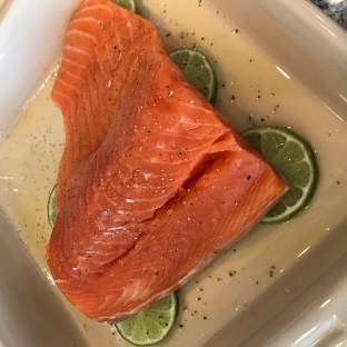 The Well-Intended's Sriracha Lime Salmon, Raw