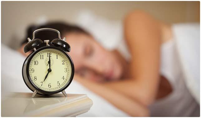 healthier lifestyle -sleeping early