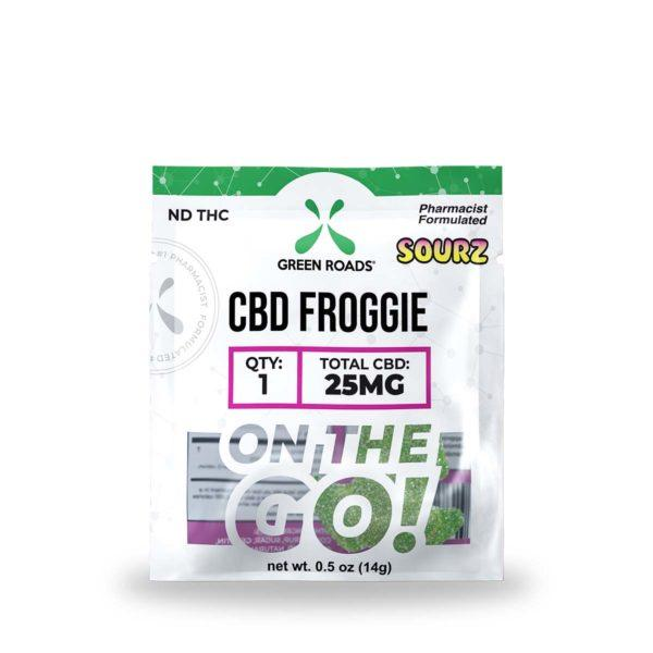 cbd-kafe,CBD Froggie SOURZ – 25 mg,Green Roads,Broad Spectrum