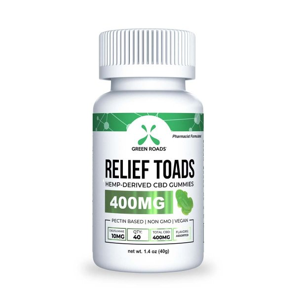 cbd-kafe,CBD Relief Toads – 400 mg,Green Roads,Broad Spectrum
