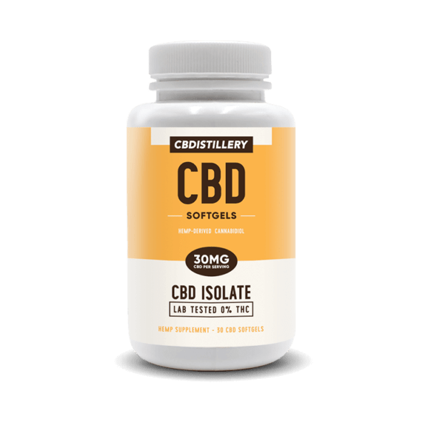 cbd-kafe,THC Free CBD Isolate Softgels – 30mg – 30 Count,CBDistillery,CBD Isolate