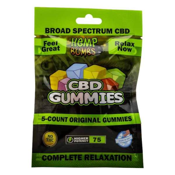 cbd-kafe,Hemp Bombs CBD Gummies - 5 Count,Hemp Bombs,Broad Spectrum