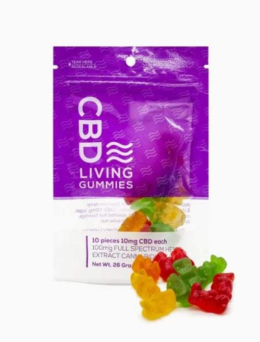 cbd-kafe,CBD Living Gummies Bag 100 mg,CBD Living,Full Spectrum