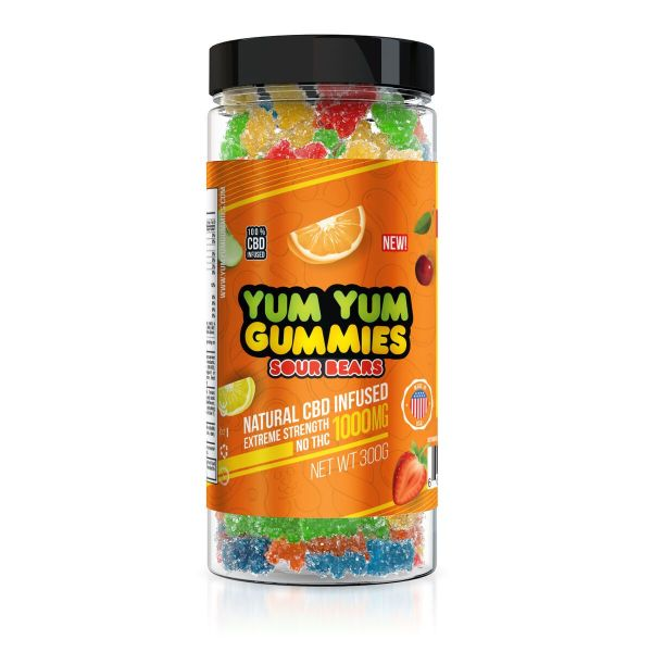 Yum Yum Gummies 1000mg - CBD Infused Sour Bears