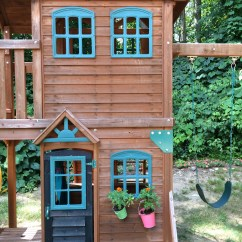 Costco Kitchen Play Set Small Playground Playhouse Makeover « The Well Organized Mom