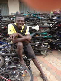 Bright buys bikes from the container and sells them on the market.