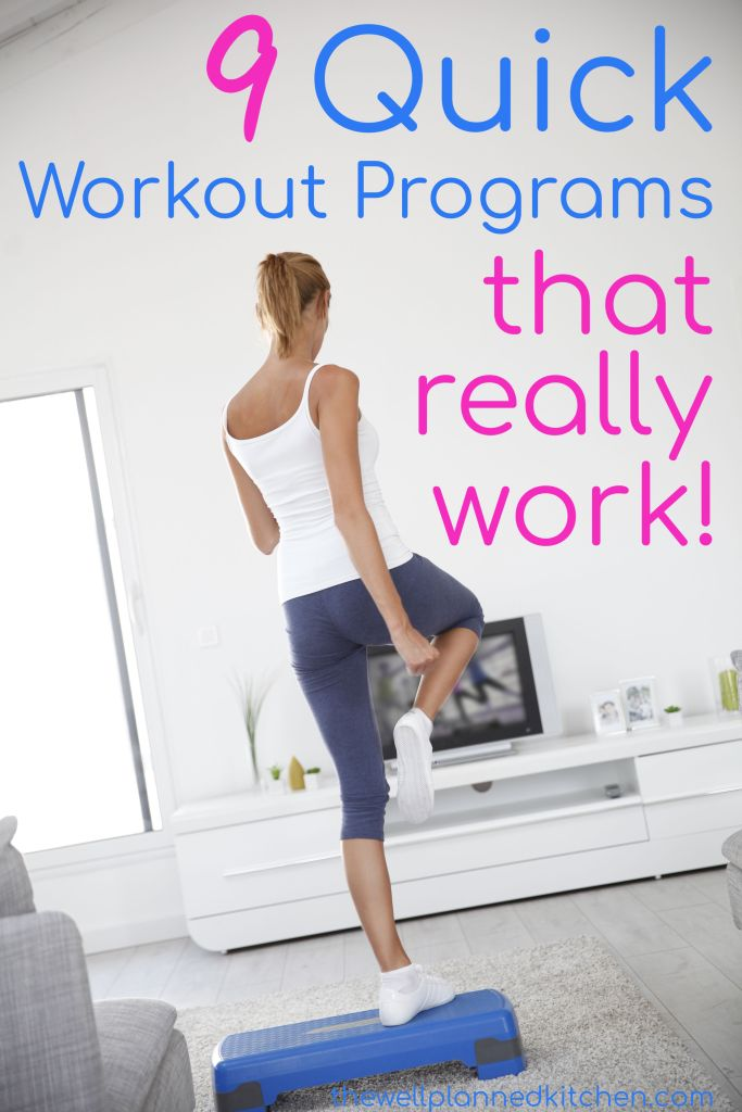 9 fast, effective workouts - seriously, if you don't have a lot of time, this is a great way to get in shape! Plus, these follow the Trim Healthy Mama recommendations! #thm #trimhealthymama #fastworkout #loseweight