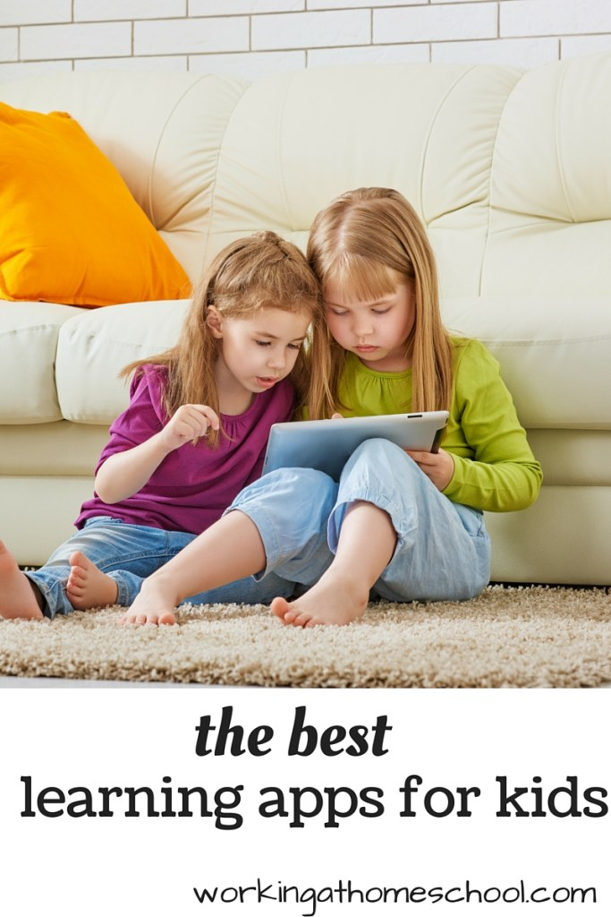 A great list of the top learning apps for kids from a homeschool mom!