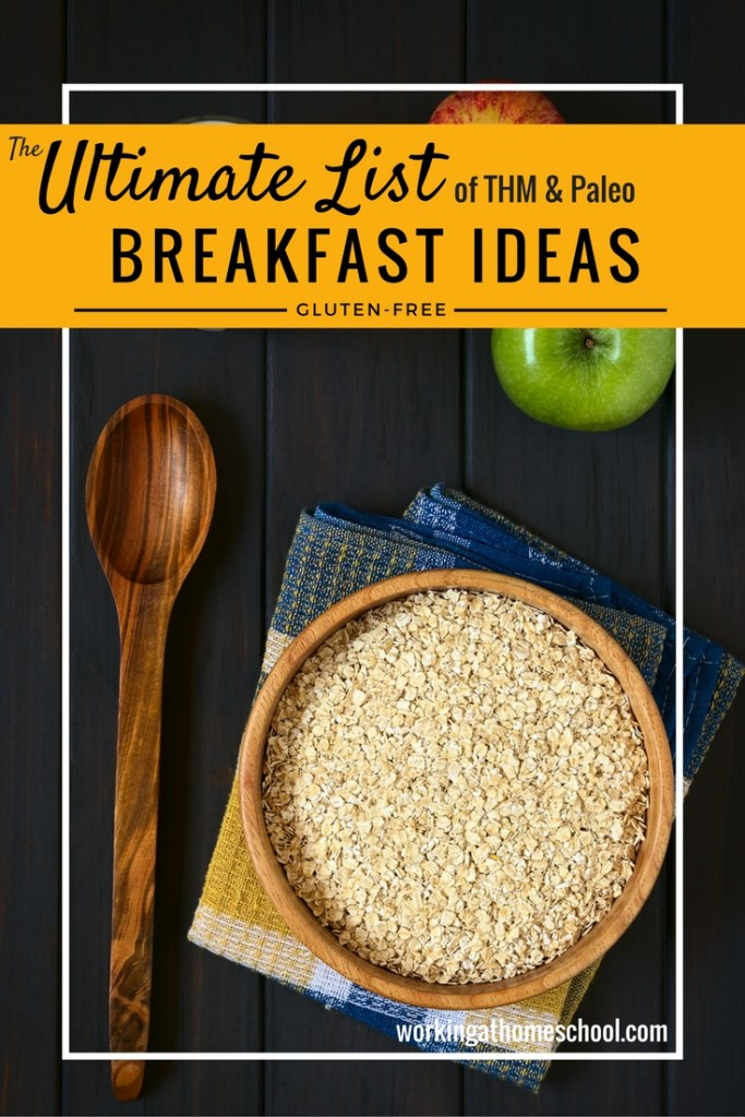 Thanks to this list, I never get bored with breakfast! Here's a master list of Trim Healthy Mama breakfast ideas - with tons of Paleo! SO MANY great THM breakfast ideas, all in one place!