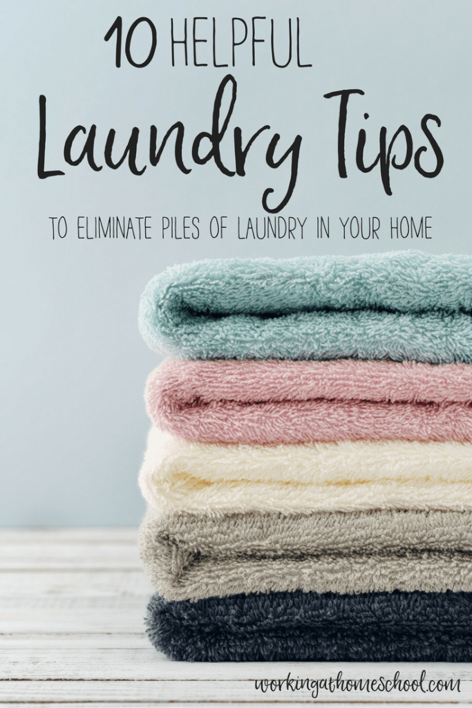 10 laundry tips to eliminate piles of laundry at home - very practical and helpful!