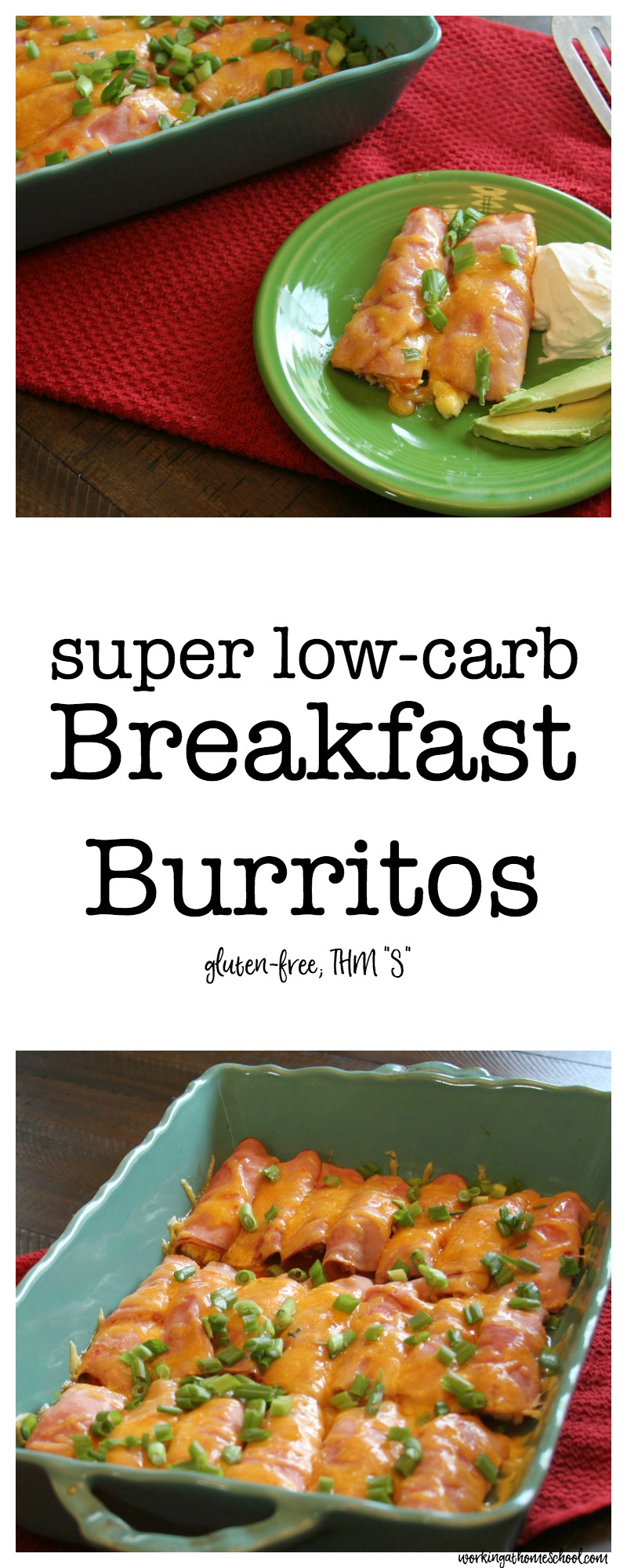 Super Low-Carb Breakfast Burritos - SO amazingly good! These are totally gluten-free, and the perfect breakfast for Atkins, South Beach Diet, Trim Healthy Mama, or Whole 30.