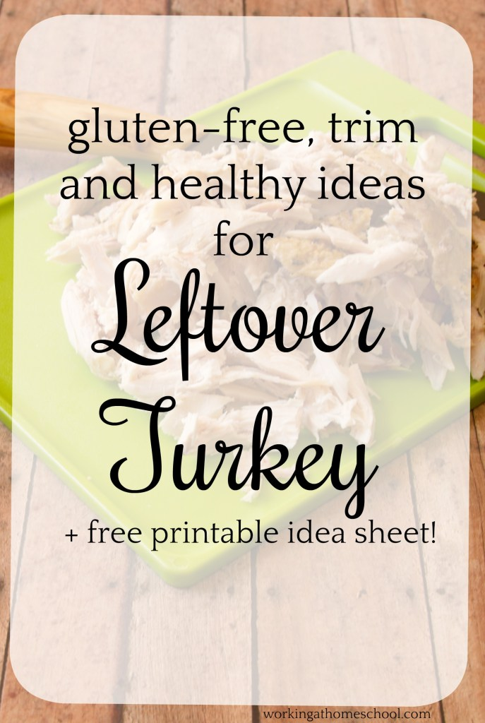 Free printable! Healthy ideas for leftover turkey. Super quick and easy, can't wait to try these!