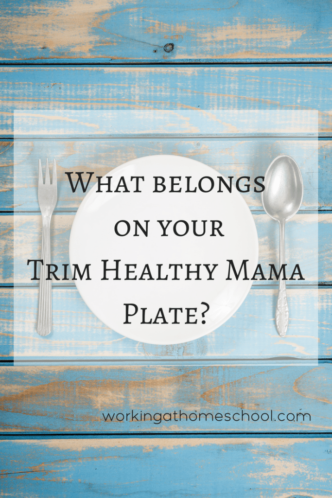 See how you can portion your plate for great results on the Trim Healthy Mama Diet! Use this for your own family favorites, or use one of the free Trim Healthy Mama Meal Plan options.