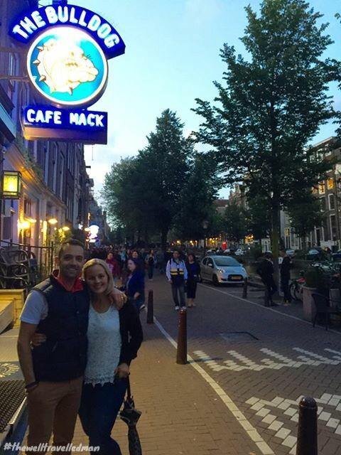 thewelltravelledman travel blog Amsterdam the bulldog cafe