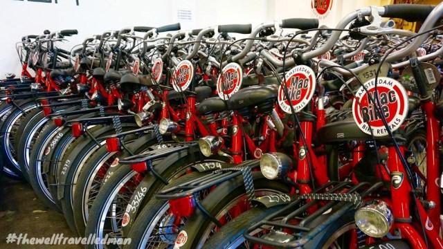 thewelltravelledman travel blog Amsterdam Mac Bike rental