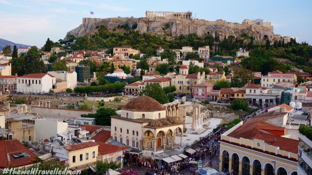 thewelltravelledman a is for athens acropolis view