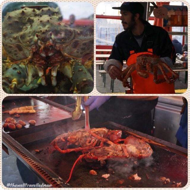 Some incredible seafood at the food markets in Oslo
