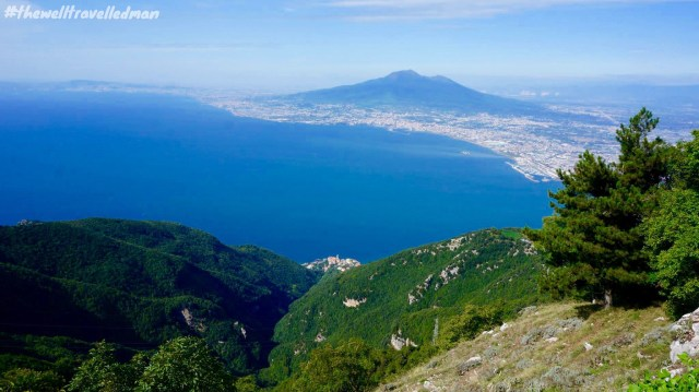 Sorrento with views over to Pompeii