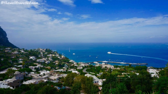 The view from the top of the island of Capri