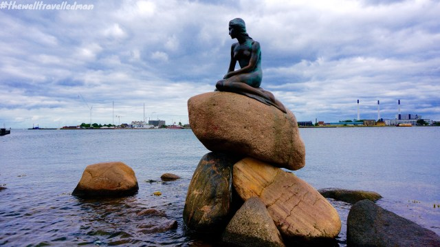 The Little Mermaid - displayed on a rock by the waterside at the Langelinie promenade